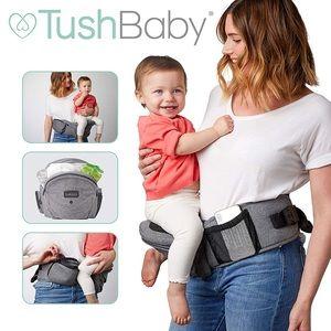 Tushbaby Ergonomic Strapless Baby Carrier in Grey